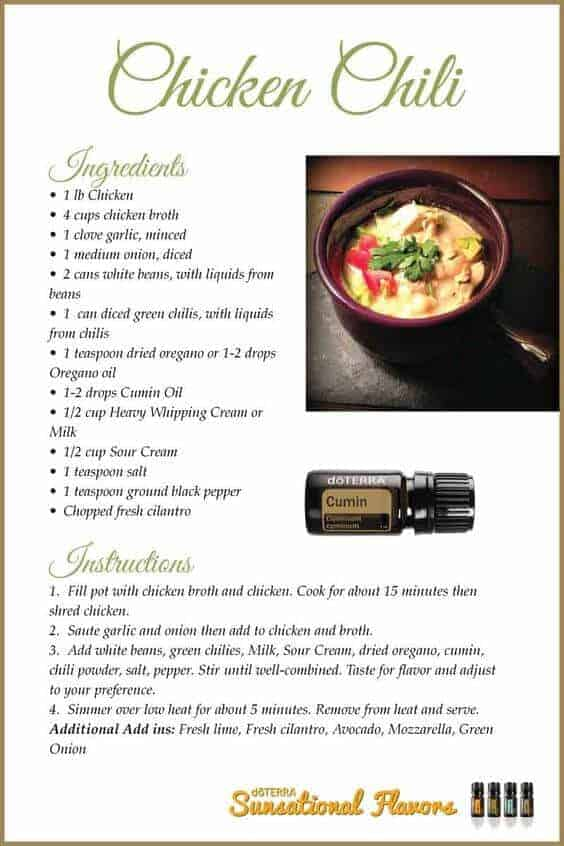 doTERRA Chicken Chili Recipe