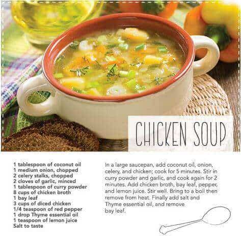 Doterra essential oil food recipes for lunch and dinner doterra chicken soup recipe forumfinder Gallery