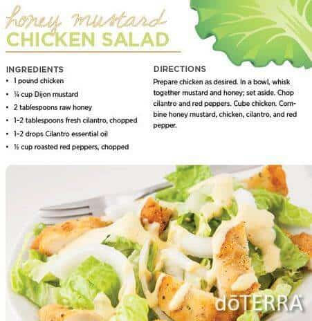 doTERRA Honey Mustard Chicken Salad