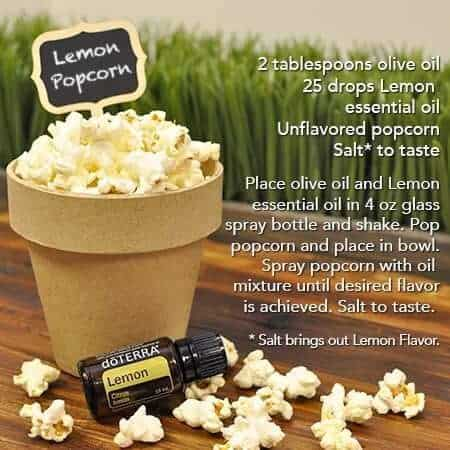 doTERRA Lemon Popcorn Recipe