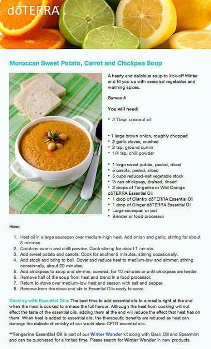 The 50 best doterra recipes for lunch and dinner doterra moroccan carrot and chickpea soup recipe forumfinder Images
