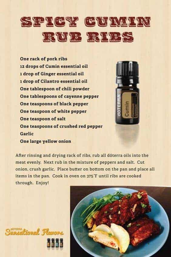 doTERRA Spicy Cumin Rub Ribs