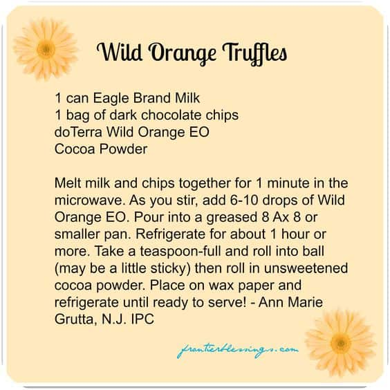 doTERRA Wild Orange Truffles Recipe