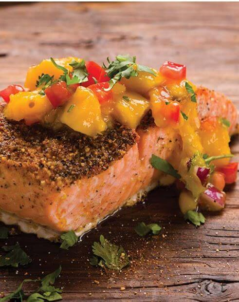 doTERRA Blackened Salmon with Mango Salsa