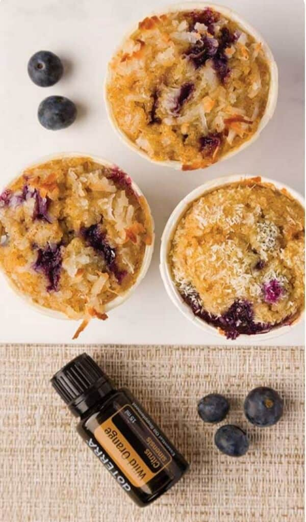 doTERRA Blueberry Wild Orange Muffins Recipe with Wild Orange Essential Oil