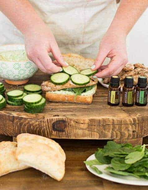 doTERRA Green Greek Goddess Chicken Sandwiches Recipe