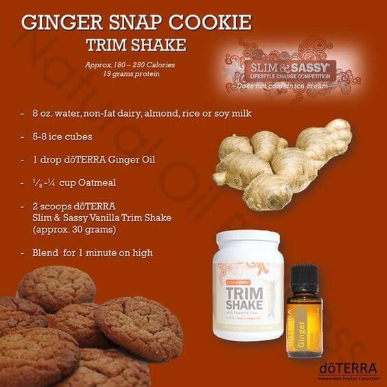 doTERRA Ginger Snap Cookie Trim Shake Recipe