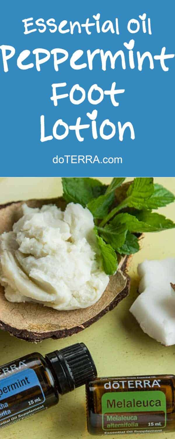 doTERRA DIY Whipped Peppermint Foot Lotion Recipe