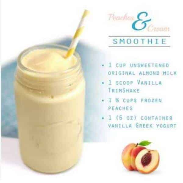 doTERRA Peaches & Cream Vanilla Trim Shake Recipe