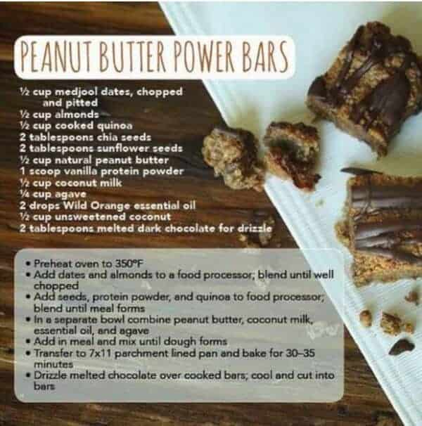 doTERRA Peanut Butter Power Bars Recipe