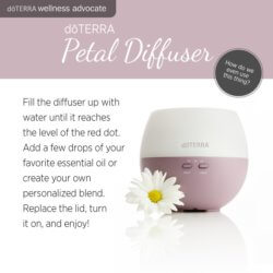 How to use the doTerra Petal Diffuser