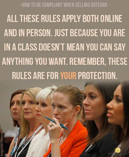 doTERRA compliant rules apply both to online and offline