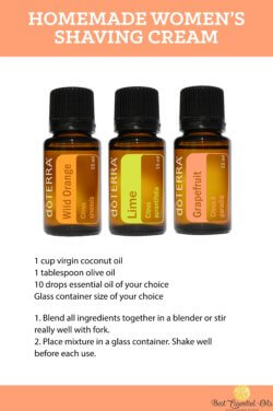 doTERRA Homemade Women's Shaving Cream Recipe