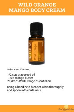 doTERRA Wild Orange Mango Body Cream Recipe