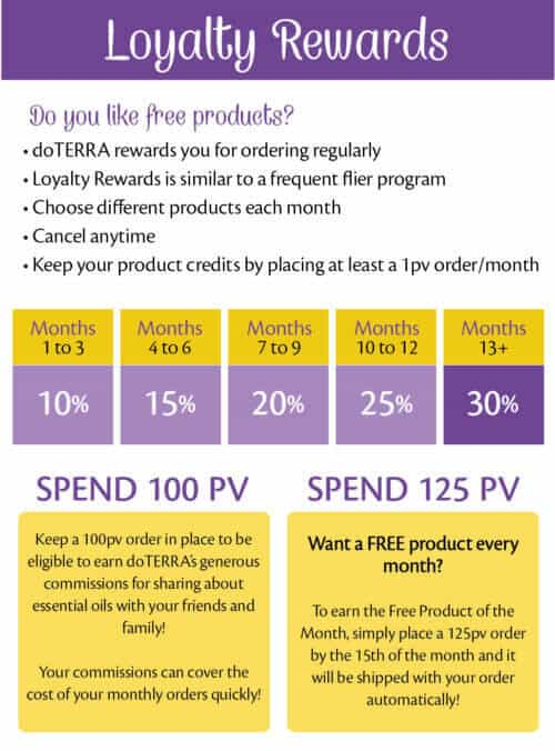 Earn free essential oils with doTERRA's Loyalty Rewards Program