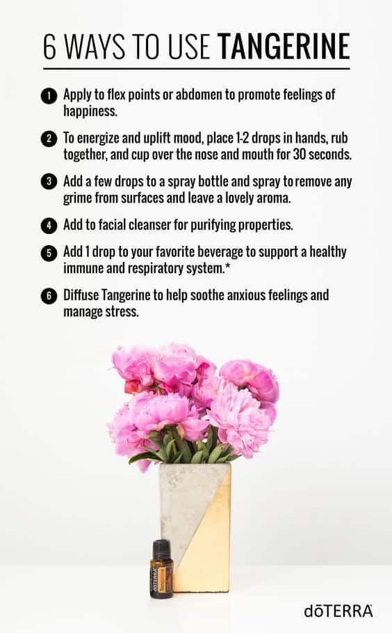 6 Ways to Use doTERRA Tangerine