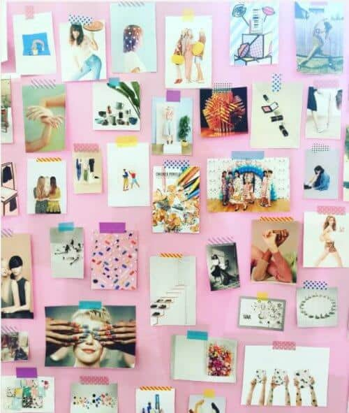 use washi tape to decorate a vision board