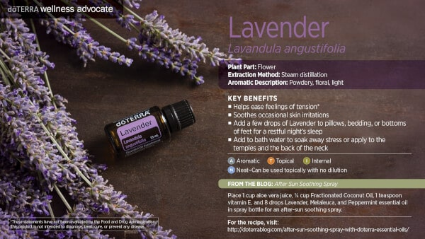 doTERRA Lavender Benefits