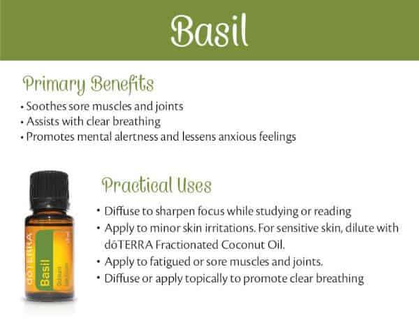 doTERRA Basil Benefits and Uses