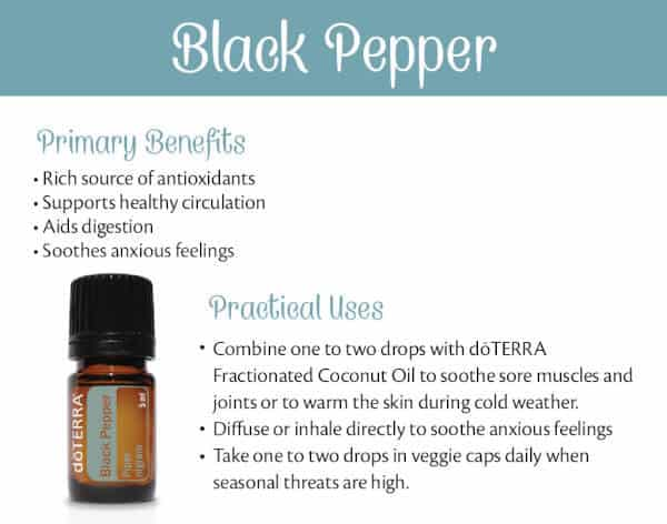 doTERRA Black Pepper Benefits and Uses