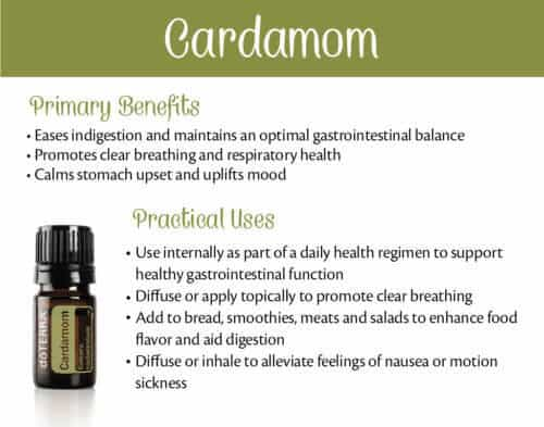 doTERRA Cardamom Benefits and Uses