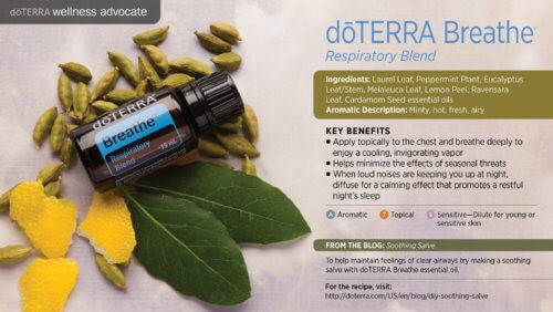 doterra breathe essential oil uses
