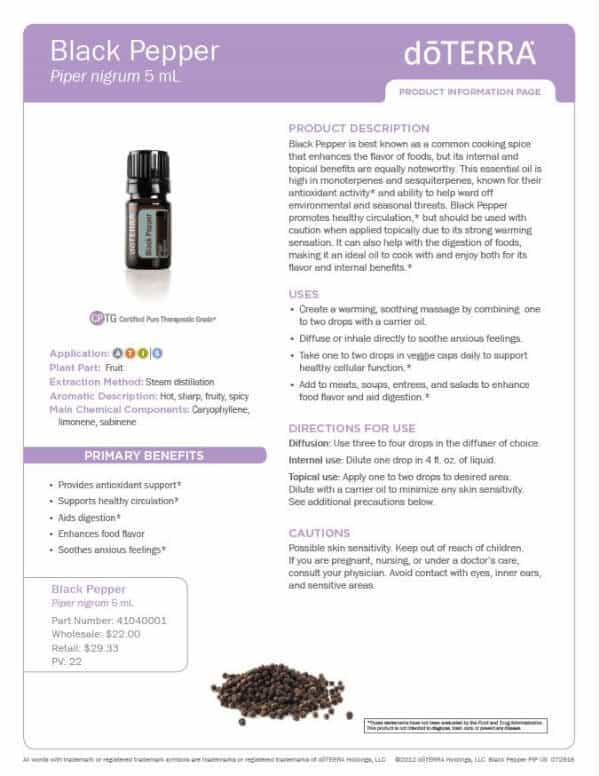 Black Pepper Product Information Page
