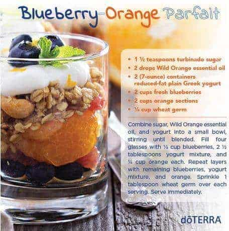 doTERRA Blueberry Orange Parfait Recipe doTERRA Essential Oil Breakfast Recipes