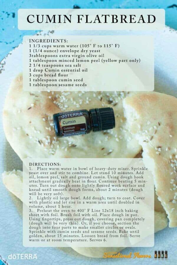 doTERRA Cumin Flatbread Recipe