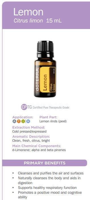 doTERRA Lemon Essential Oil Uses