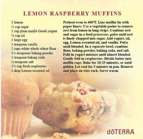 doTERRA Lemon Raspberry Muffins Recipe