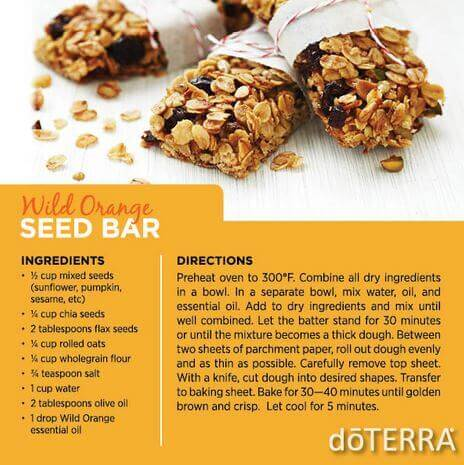 doTERRA Wild Orange Seed Bar Recipe