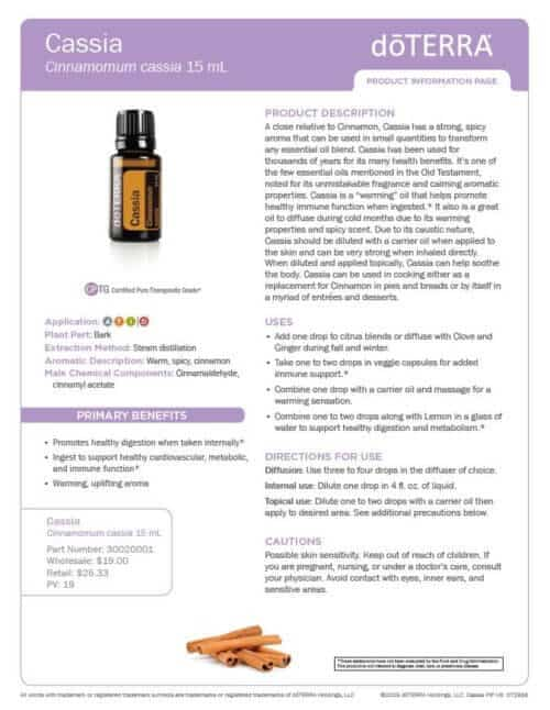 doTERRA cassia Essential Oil Uses