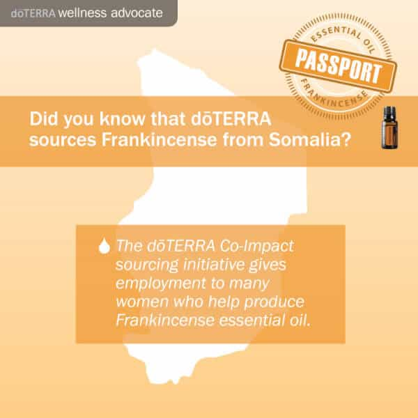 doTERRA frankincense passport