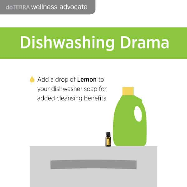 Add a drop of lemon to your dishwasher soap for added cleaning benefits