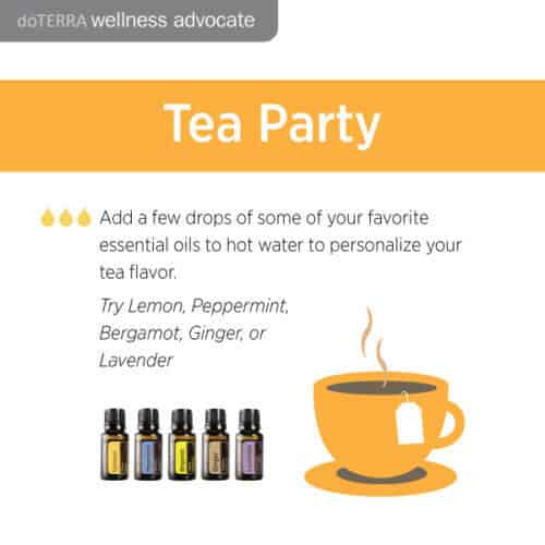 doTERRA Essential Oils Tea Party Recipe