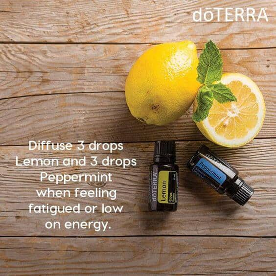 lemon & peppermint essential oil