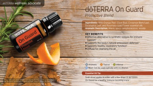 doterra onguard essential oil uses