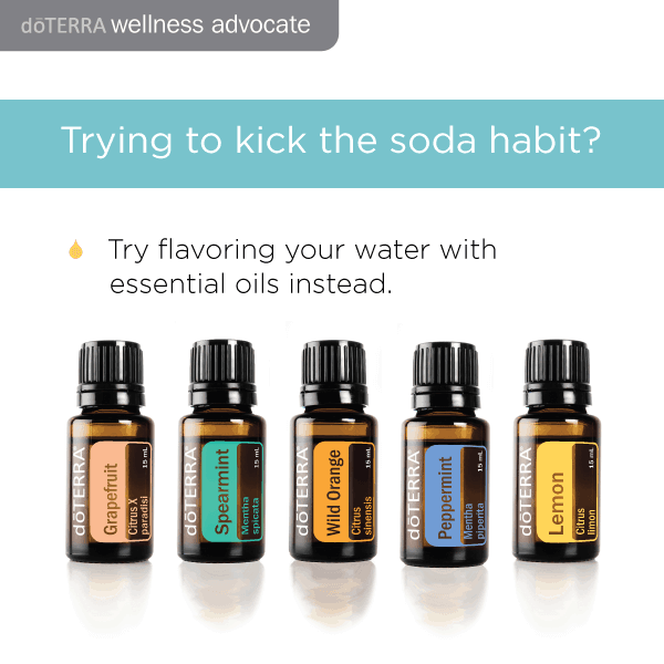 Kick the soda habit by flavoring your water with doTERRA