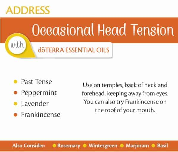 I love that I can naturally address occasional head tension simply by putting on some essential oils. Past Tense is the best!