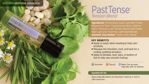 doterra past tense essential oil uses