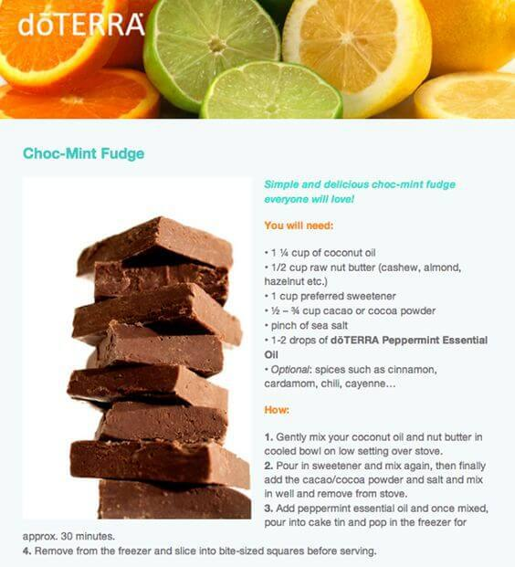 doTERRA Choc-Mint Fudge Recipe