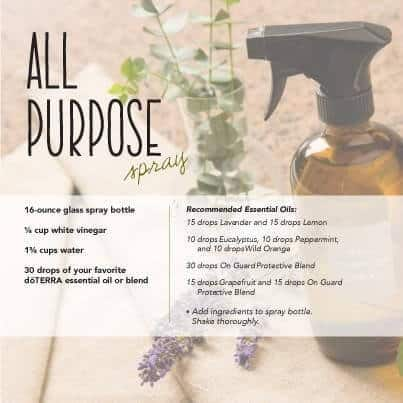 doTERRA Essential Oils DIY All Purpose Cleaner Recipe