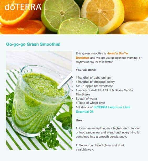 doTERRA Go-G0-G0 Green Smoothie Recipe