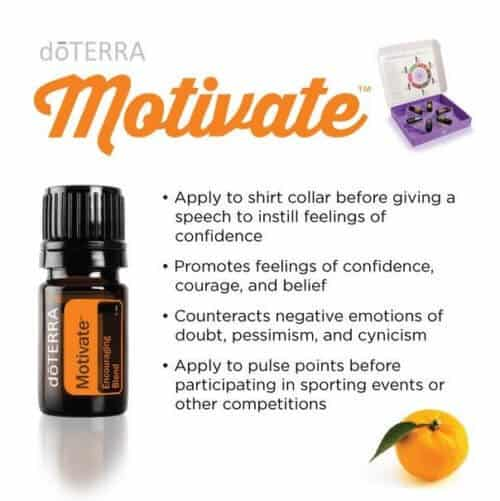 doTERRA Motivate Encouraging Blend Uses