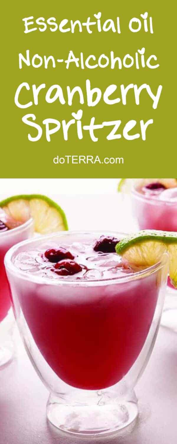 doTERRA Non-Alcoholic Cranberry & Lime Spritzer Recipe