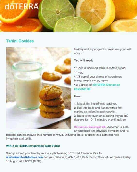 doTERRA Tahini Cookies Recipe