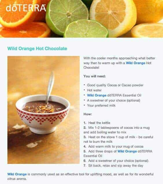doTERRA Wild Orange Hot Chocolate Recipe