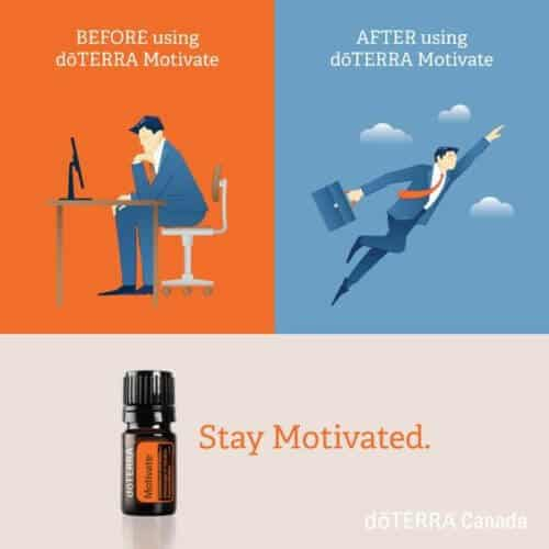 Uses doTERRA Motivate to Stay Motivated