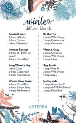 Winter doTERRA Diffuser Blends